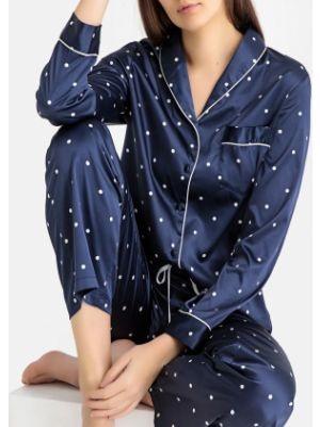 Пижама в горошек с карманами La Redoute Collections