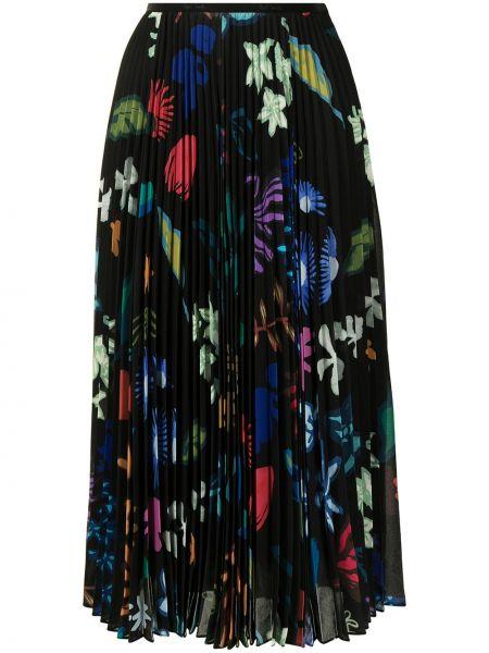 Черная плиссированная юбка Paul Smith