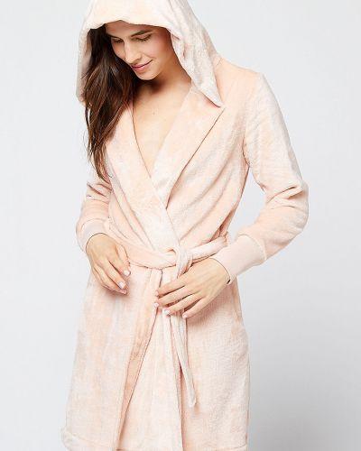 Халат с капюшоном розовый Etam