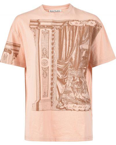 Розовая футбольная футболка Acne Studios