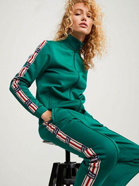 Костюмный зеленый спортивный костюм Zoe Karssen