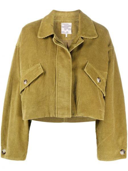 Зеленая куртка вельветовая с воротником Baum Und Pferdgarten