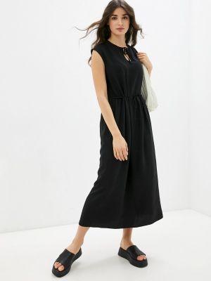 Прямое черное платье А-силуэта Be Main