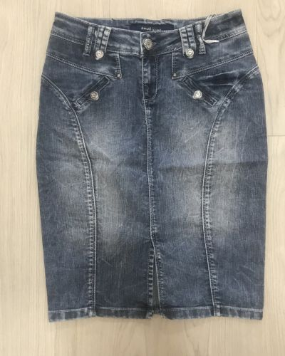 Джинсовая юбка - синяя Omat