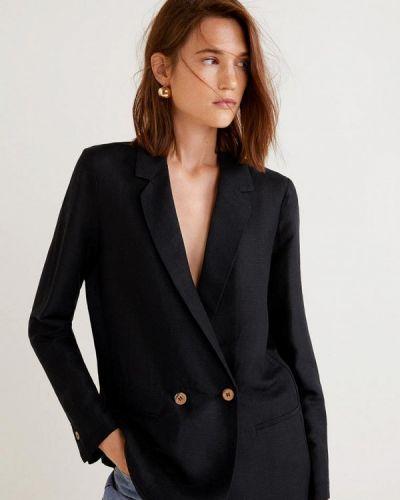 Черный пиджак весенний Mango
