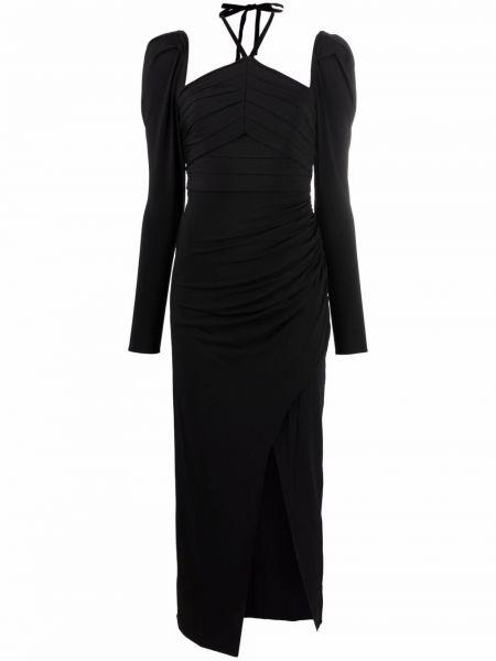 Черное платье со сборками Self-portrait
