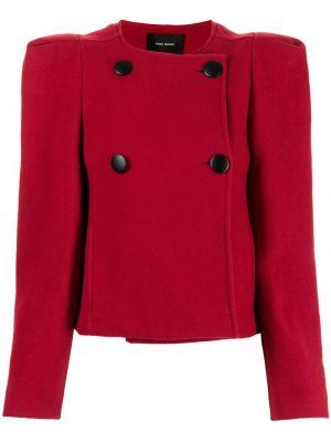 Красный пиджак двубортный на пуговицах Isabel Marant