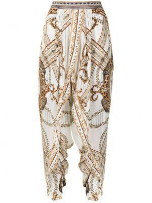 Укороченные брюки - белые Camilla