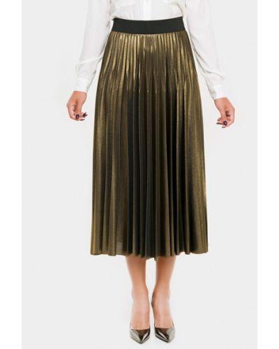 Юбка золотая свободного кроя Vera Moni