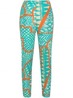 Укороченные брюки - синие Pleats Please Issey Miyake