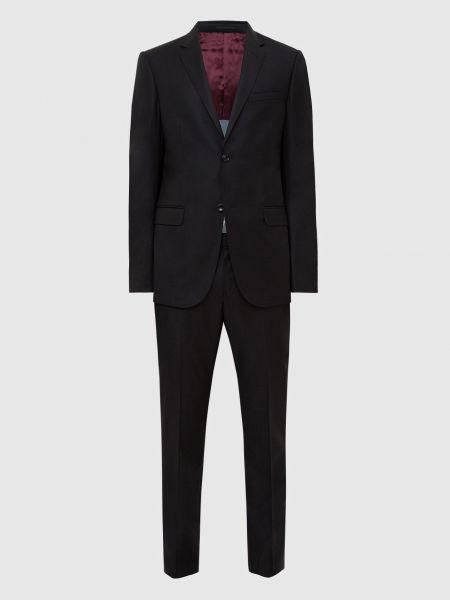 Костюмный шерстяной черный костюм Gucci