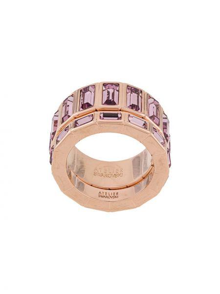 Różowy pierścionek Atelier Swarovski