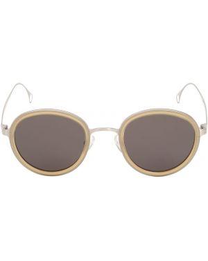 Beżowe okulary Saturnino Eyewear