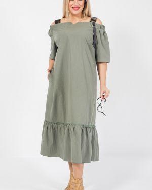 Платье мини на бретелях с оборками с карманами с вырезом Luxury