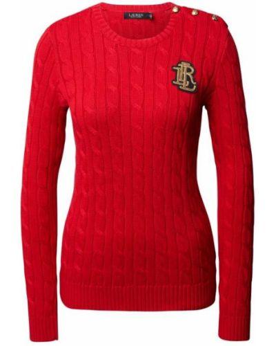Prążkowany sweter bawełniany Lauren Ralph Lauren