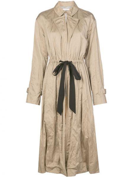 С кулиской с рукавами пальто с карманами из вискозы Jason Wu Collection