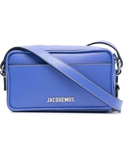 Niebieska torebka crossbody skórzana Jacquemus