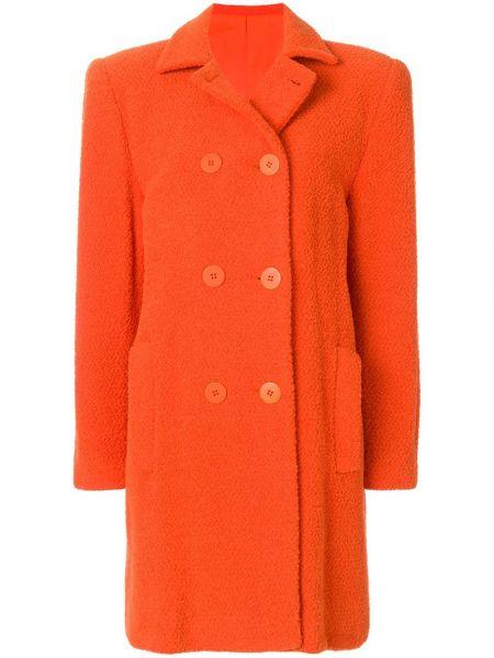 Пальто классическое с воротником на пуговицах с капюшоном Stephen Sprouse Pre-owned