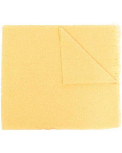 Z kaszmiru szalik - żółty Destin