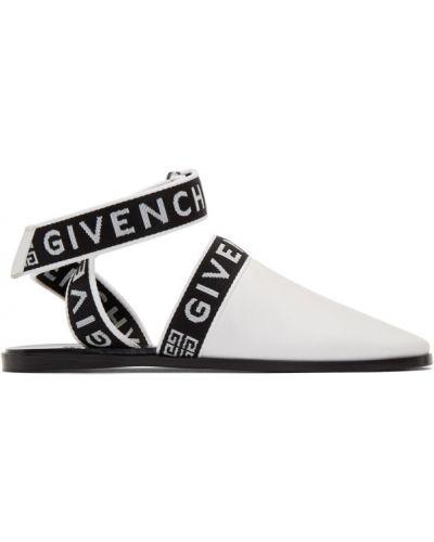Czarny z paskiem muły okrągły na pięcie Givenchy