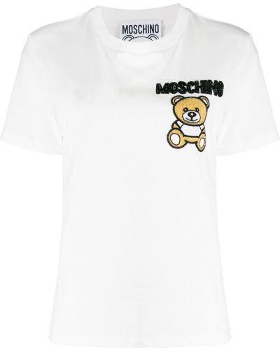Футболка с вышивкой с логотипом Moschino