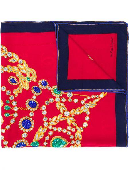 Синий шарф Cartier Pre-owned