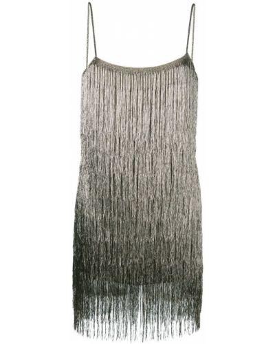 Бежевое платье из вискозы Rachel Zoe