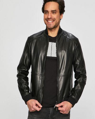 Кожаная куртка легкая черный Armani Exchange