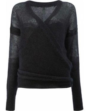 Черный свитер из мохера с вырезом Ilaria Nistri