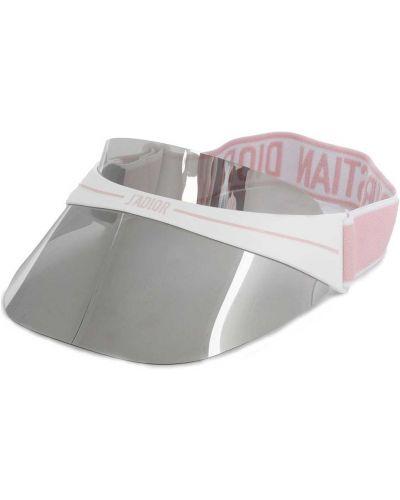 Daszek z logo biały Dior Eyewear