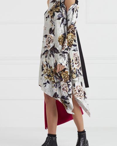 Платье с цветочным принтом с воротником Mm6 Maison Margiela