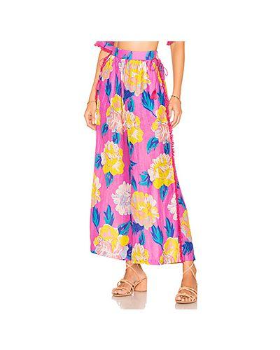 Розовые брюки на резинке с поясом с открытым носком A Peace Treaty
