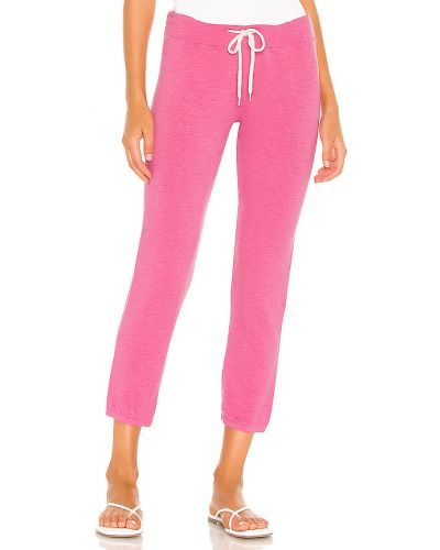 Różowe joggery bawełniane vintage Monrow