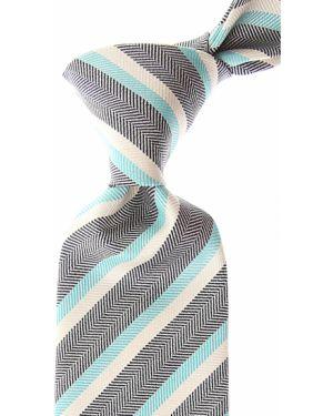 Niebieski krawat z jedwabiu Borrelli