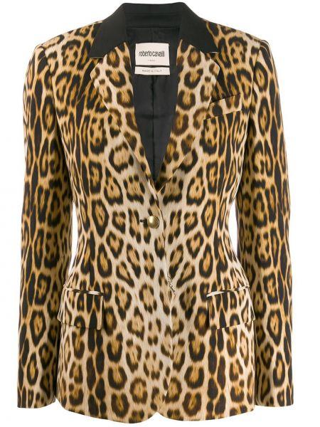 Прямая куртка на пуговицах узкого кроя с карманами Roberto Cavalli