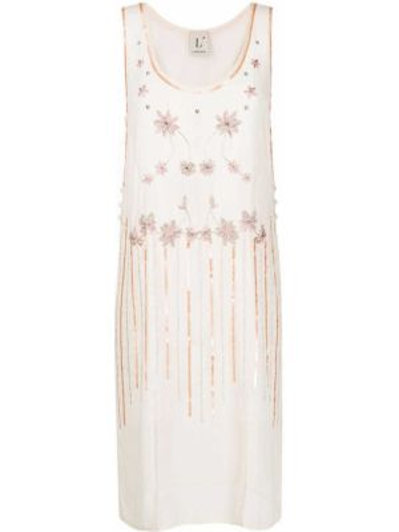 Платье с цветочным принтом с рукавами Lautre Chose