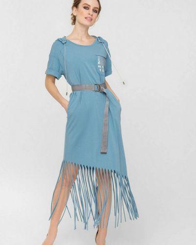 Голубое весеннее платье Lo