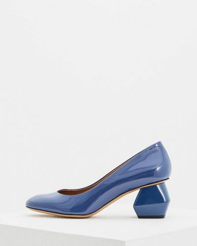 Голубые туфли для офиса Emporio Armani