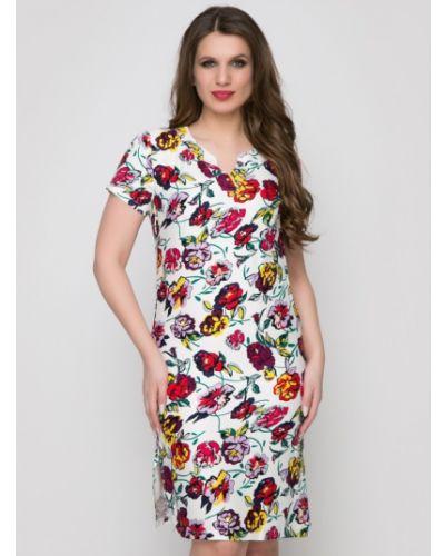 Повседневное с рукавами платье миди с разрезом Belluche
