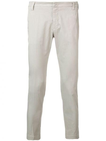 Серые брюки чиносы с поясом на молнии узкого кроя Entre Amis