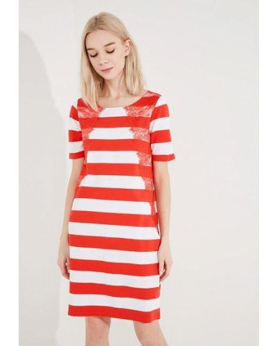 Джинсовое платье весеннее красный Liu Jo Jeans