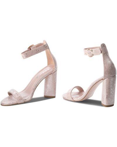 Босоножки на каблуке - розовые R.polański