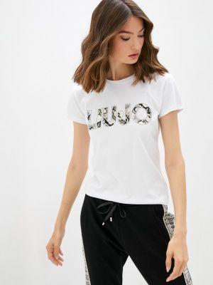 Белая зимняя футболка Liu Jo