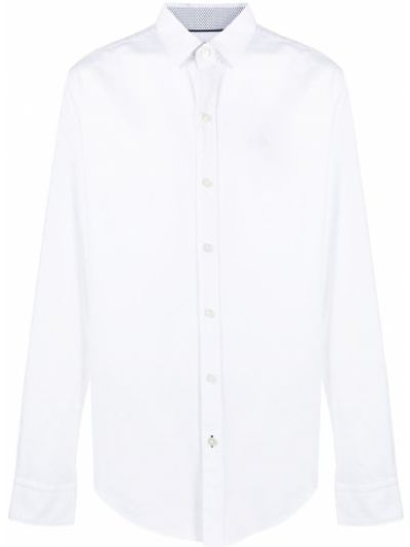 Хлопковая белая классическая рубашка с воротником Boss Hugo Boss