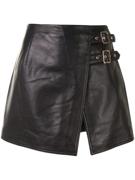Золотистая черная юбка с разрезом с пряжкой Alice Mccall