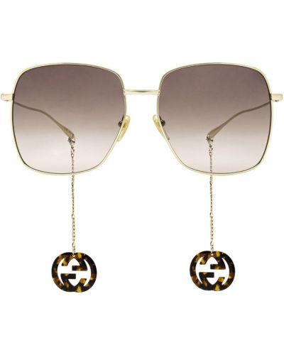 Okulary - żółte Gucci