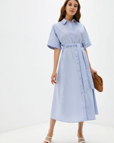 Платье рубашка - голубое Zarina