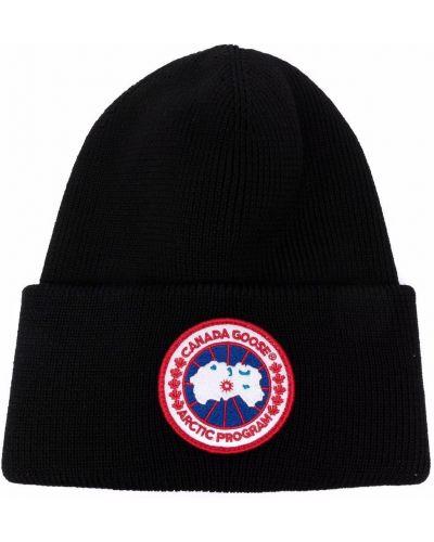Шерстяная шапка бини - черная Canada Goose