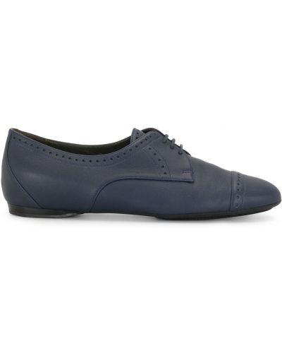 Кожаные синие оксфорды с перфорацией Hermès