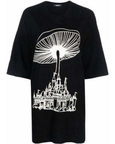 Черная хлопковая футболка Undercover